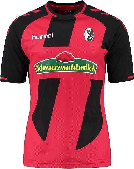 Hummel – Camiseta de fútbol para Hombre, Color Rojo y Negro, tamaño Small: Amazon.es: Deportes y aire libre