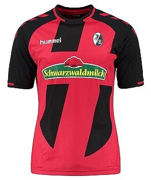 Hummel – Camiseta de fútbol para Hombre, Color Rojo y Negro, tamaño Small