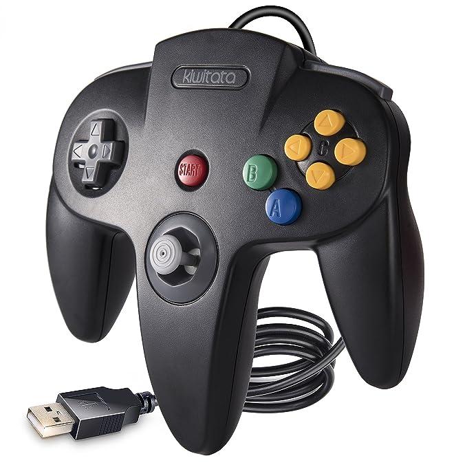 kiwitatá Retro Classic 64 N64 USB-Controller, N64 Bit USB Wired PC Game Controller Gamepad für USB zu PC & Mac & Raspberry Pi