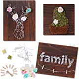 WeeYo DIY String Art Kit, 3 Pack DIY Craft Kit Includes All Crafting Supplies, Arts & Crafts Projects, String Art Patterns (D