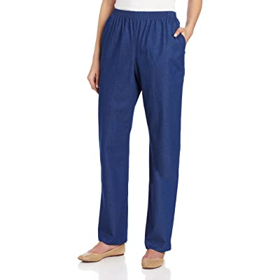 Alfred Dunner Women's Short Length Pant at Women's Clothing store: Athletic Pants