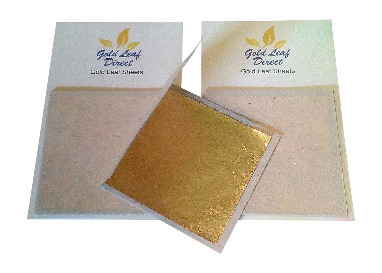 Goldblä tter, 100% Echtgold, 10 Blatt Goldenthai