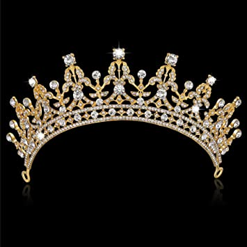 Reina Oficial Culpa  Amazon.com: BABEYOND - Tiara de cristal con corona de diamantes de  imitación de corona de quinceañera, corona de princesa, tiara para novia,  corona de boda, tiara (dorada): Beauty