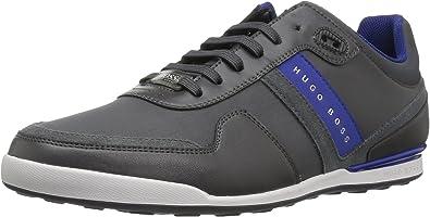 Hugo Boss Footwear Green Arkansas Lowp Nylon//Leather Navy Trainer