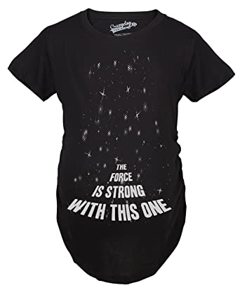 Amazon.com: Crazy Dog Tshirts Maternity Force Is Strong Funny ...