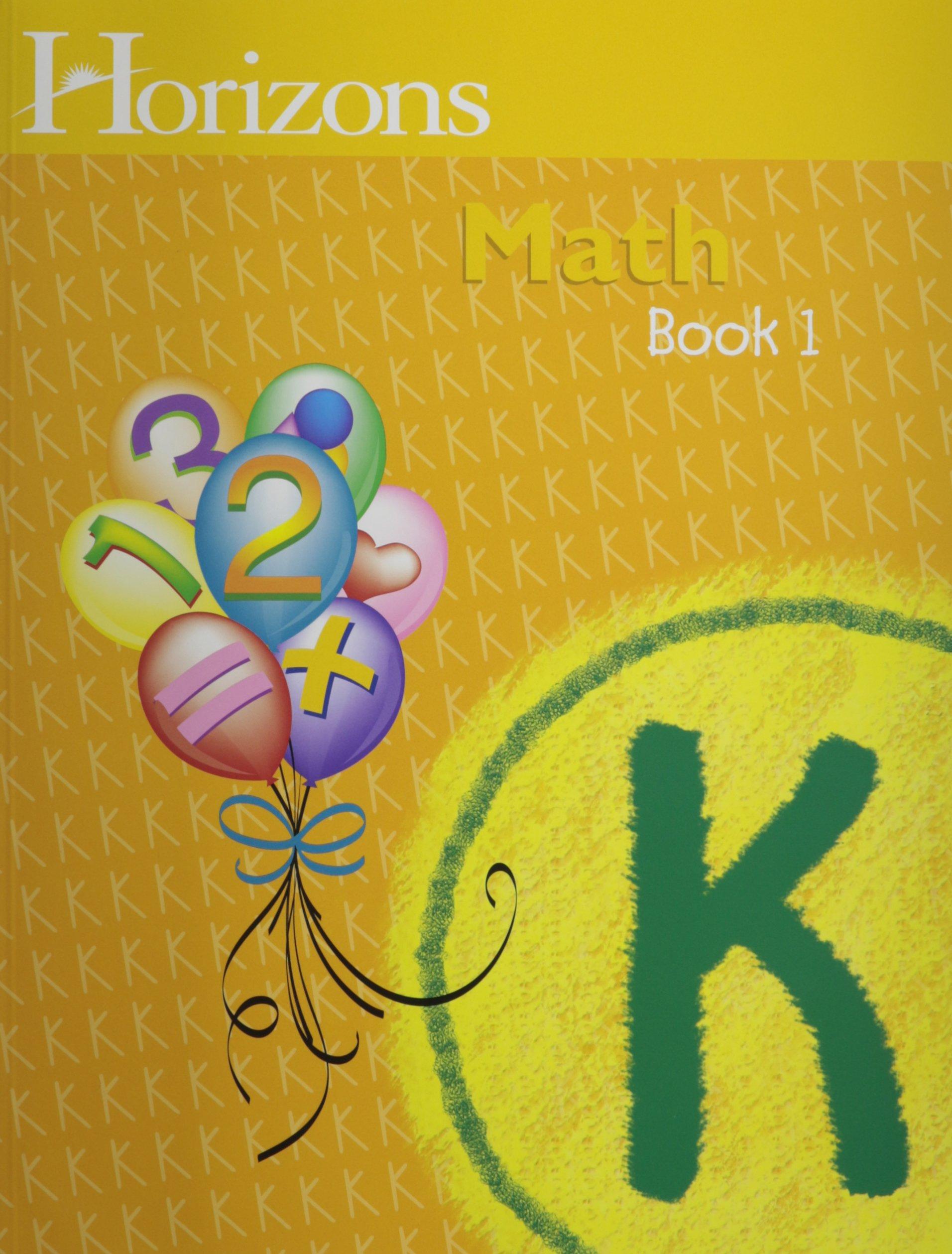 Horizons Math K SET of 2 Student Workbooks K-1 and K-2: Alan ...