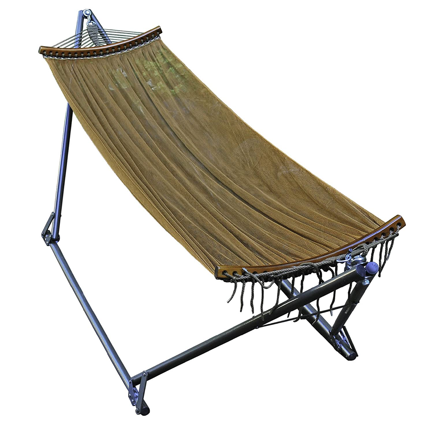 Guide gear portable folding hammock 172580 hammocks at sportsman s - Amazon Com Algoma 4912 E Z Cozy Folding Hammock Patio Lawn