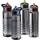 #1 Unibos Flip Straw Tritan Drinks Sport Hydration Water Bottle 700ml Cycling Hiking BPA Free