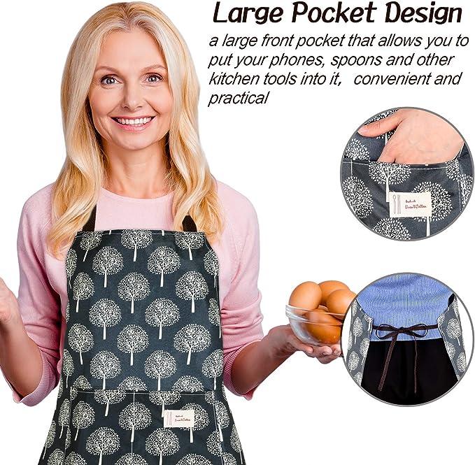 Tabards pour femmes avec poches , tablier imprim/é , tabliers de travail /à domicile tabard pour hommes
