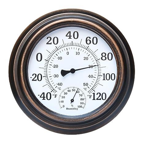 "FyGou 8"" Indoor/Outdoor Thermometer for Room,Decorative,Patio,Garden, - Amazon.com : FyGou 8"