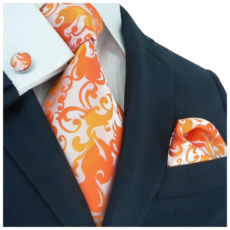 Landisun Paisley Mens Silk Necktie Set: Tie+Hanky AF40L30 Teal Blues Grey, 3.75Wx59L 3.75Wx59L