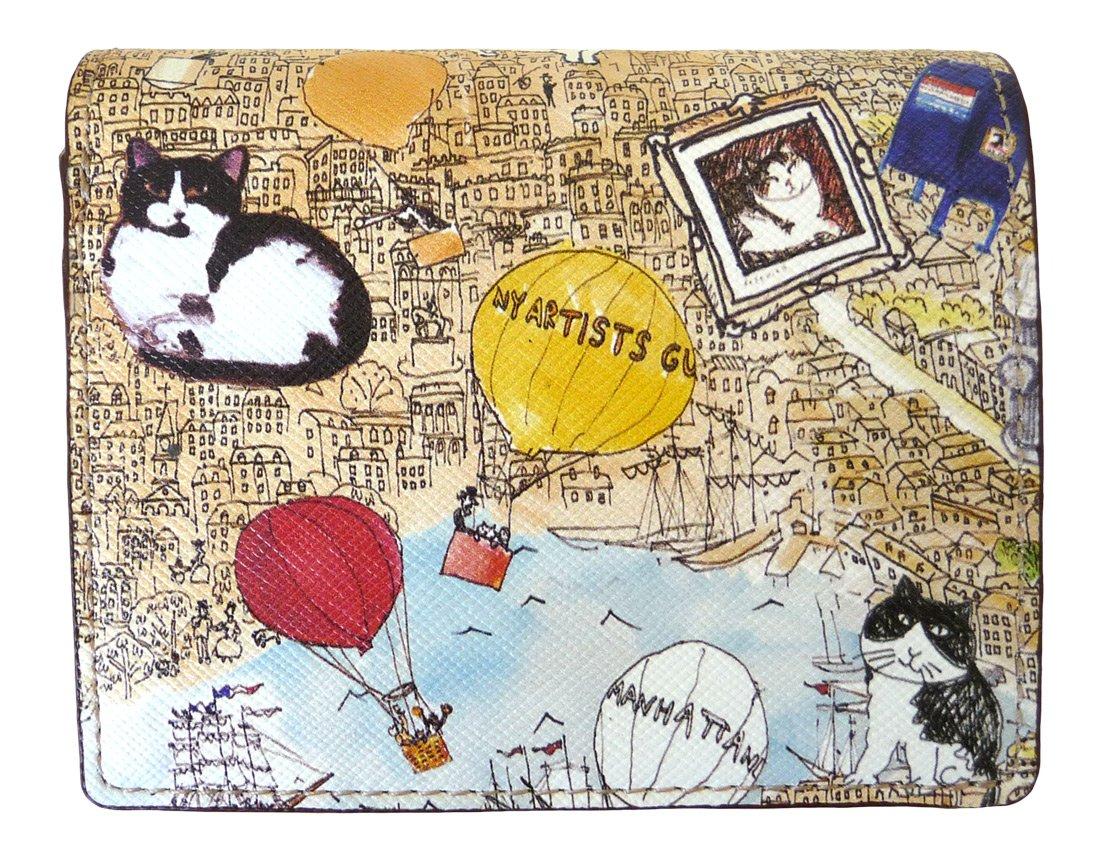 マンハッタナーズ manhattaner's ライブリーパース 財布 レディース 二つ折財布 ギャルソン ボックス型小銭入れ 075-1652 B079R9RFJ8 Cam Cam