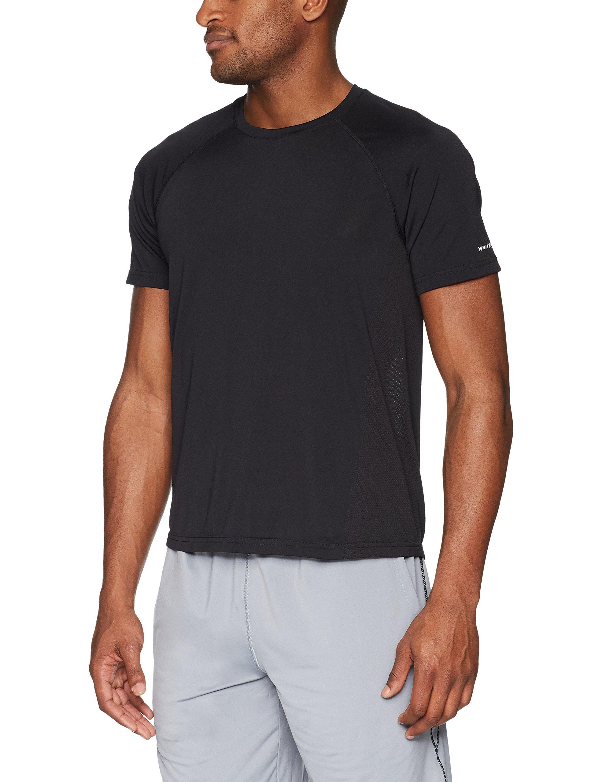 White Sierra Techno Ii Seamless Short Sleeve Tee, Black, Medium