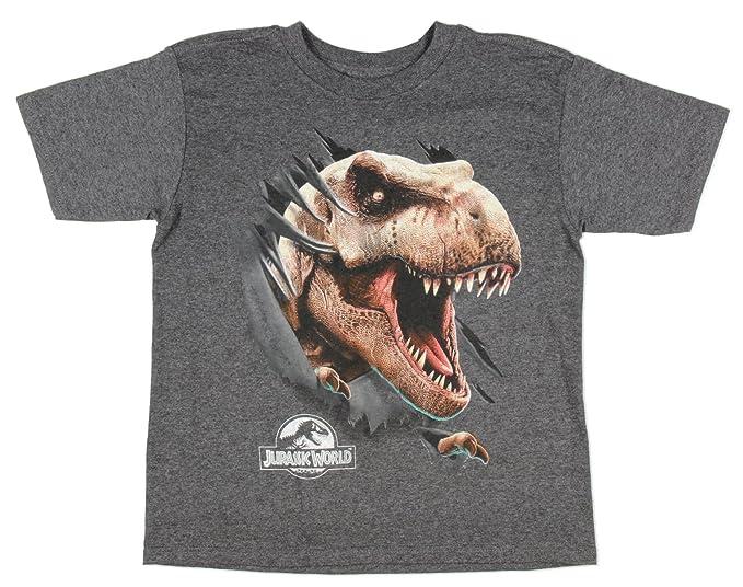 4c78f702a Amazon.com: Jurassic World T-Rex Rip Through Boys Tee: Clothing