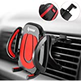 IPOW Car Vent Phone Mount, Car Phone Mount with Metal Hook& Button-Press Release Clamp, Easy Charging Cell Phone Holder for Car Compatible with iPhone 6 7 8 Plus X XS, Samsung S8 S9 Note 8