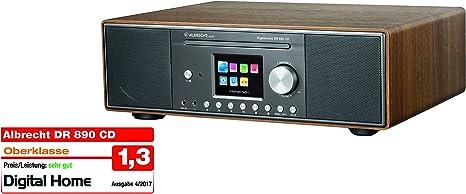 Albrecht Dr 890 Cd 27389 02 Compact System Internet Radio Digital Radio Wifi Dab Fm With Rds Bluetooth Aux Cd Player Usb Colour Display 2 X 15 W Rms Colour Walnut Amazon De