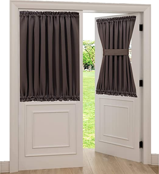 """Short Thermal Blackout Privacy Window Curtain French Door Panel 54X40/"""" Blue"""