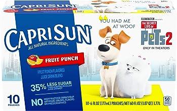 Capri Sun Fruit Punch Juice Drink (6 oz Pouches, 4 Boxes of 10)