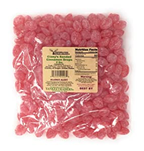 Claeys Sanded Candy Drops, Cinnamon, 2 Pound