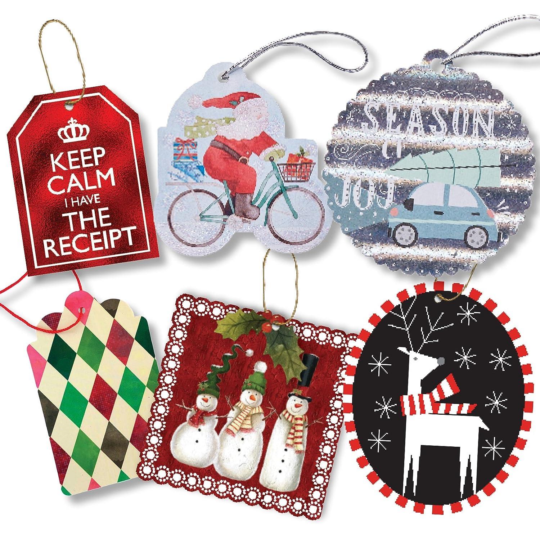 Jillson Roberts - Juego de 24 etiquetas para regalo, diseño de Navidad: Amazon.es: Oficina y papelería