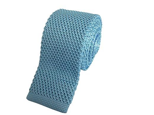Aqua azul Skinny de punto corbata: Amazon.es: Ropa y accesorios