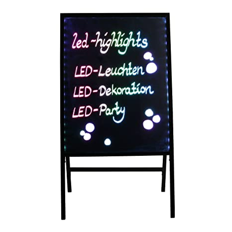 LED-Highlights - Pizarra LED 80 * 60 cm con Soporte, trípode ...