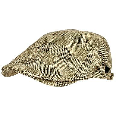 4493642fd16cd WITHMOONS Sombreros Gorras Boinas Bombines Tartan Check Newsboy Hat Flat Cap  SL3036 (Beige)  Amazon.es  Ropa y accesorios