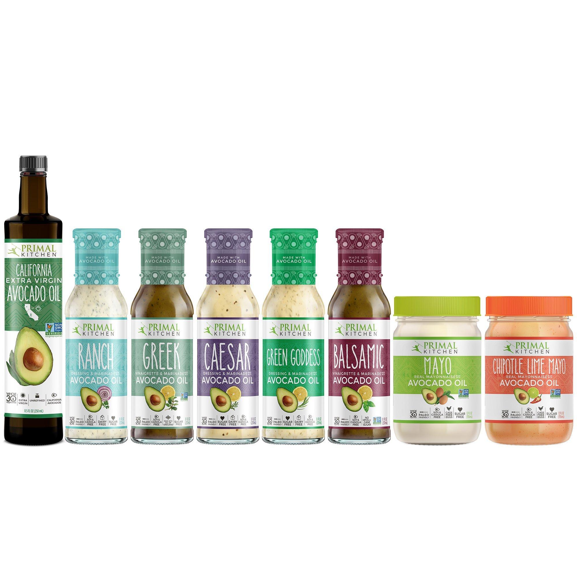 Primal Kitchen Keto Advanced Kit Includes Extra Virgin Avocado Oil, Avocado Oil Mayo, and Avocado Oil Dressings (8 count)