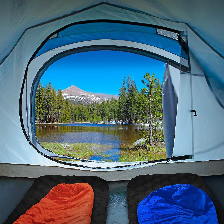 ALPIDEX Colchoneta Camping Esterilla Inflable Camping 190 x 57 x 5 cm Portatil Ligero