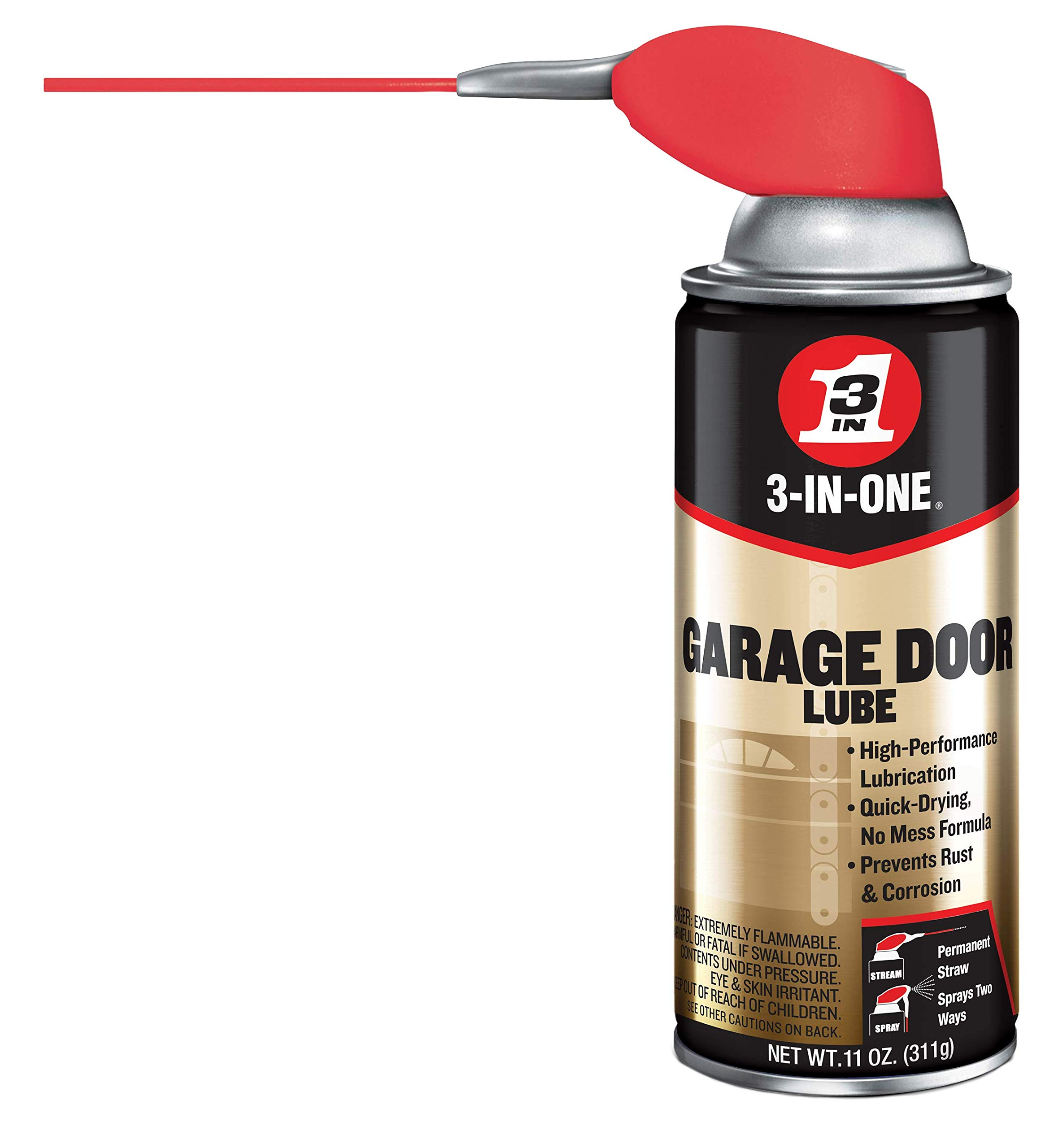 WD-40 3-in-one Professional Garage Door Lubricant, 11 Oz Aerosol Can - WDC100581 by WD-40