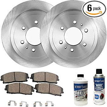 P0348 FRONT REAR 4 PERFORMANCE DRILLED BRAKE ROTORS AND 8 CERAMIC PADS