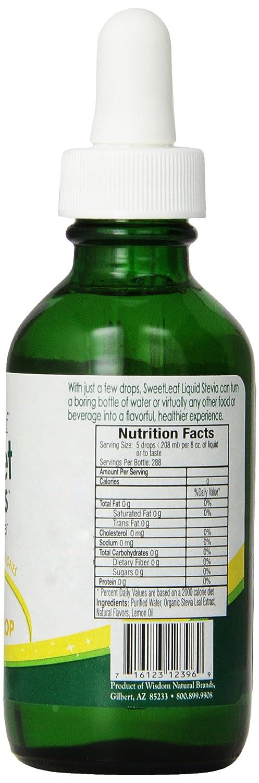 SweetLeaf Liquid Stevia, Lemon Drop 2 fl oz (60 ml): Amazon.es: Salud y cuidado personal