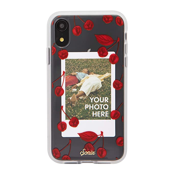 big sale 36a5f 5990b Sonix Cherry Photo Frame Cell Phone Case [Military Drop Test Certified]  Protective Clear Polaroid Picture Case Series for Apple iPhone XR