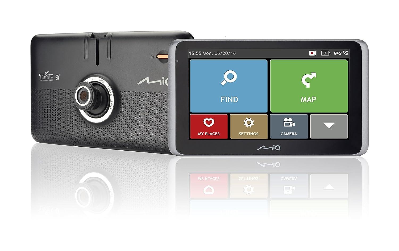 Mio MiVue C330 HD Dashcam Videokamera fü r Auto mit Integriertem GPS, F2.0 Objektiv, 130 Grad Weitwinkellinse und Radarkamera-Daten MIVUEC330
