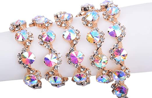 KAOYOO 1 Yard Crystal Rhinestone Chain Trim for Sewing Crafts,DIY,Decoration