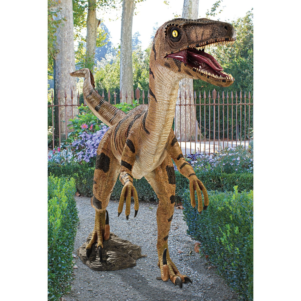 Amazon.com : Design Toscano Velociraptor, Jurassic Sized Dinosaur Statue,  Multicolored : Outdoor Statues : Garden U0026 Outdoor