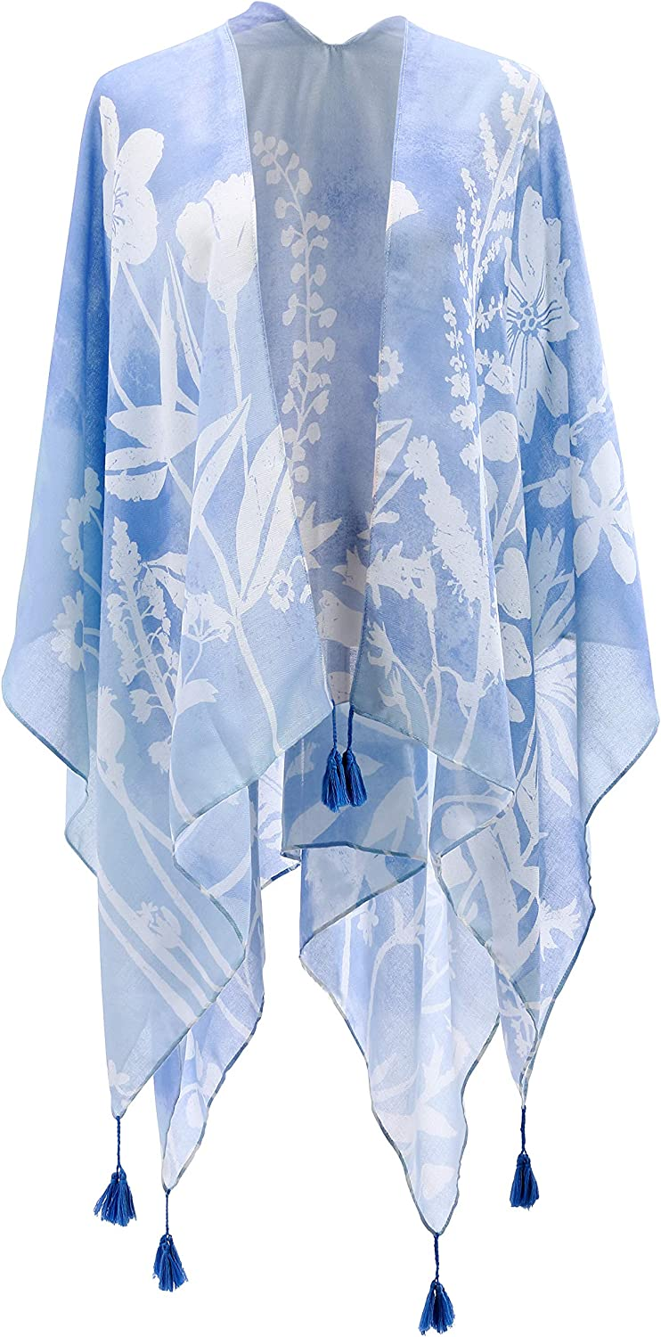 DEMDACO Sketches of Nature Soft Blue Size One Over item handling ☆ Fits Polyeste Most 2021