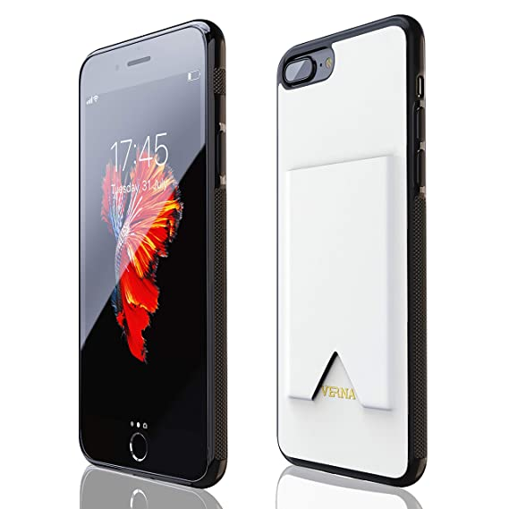 buy popular 21168 0963a iPhone 7 Plus Case | iPhone 8 Plus Case | Slim PU Leather Case | Card  Holder Slot | Wireless Charging | Compatible with Apple iPhone 7  Plus/iPhone 8 ...