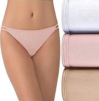 Vanity Fair Women's Illumination String Bikini Panties (Regular & Plus Size), 3 Pack