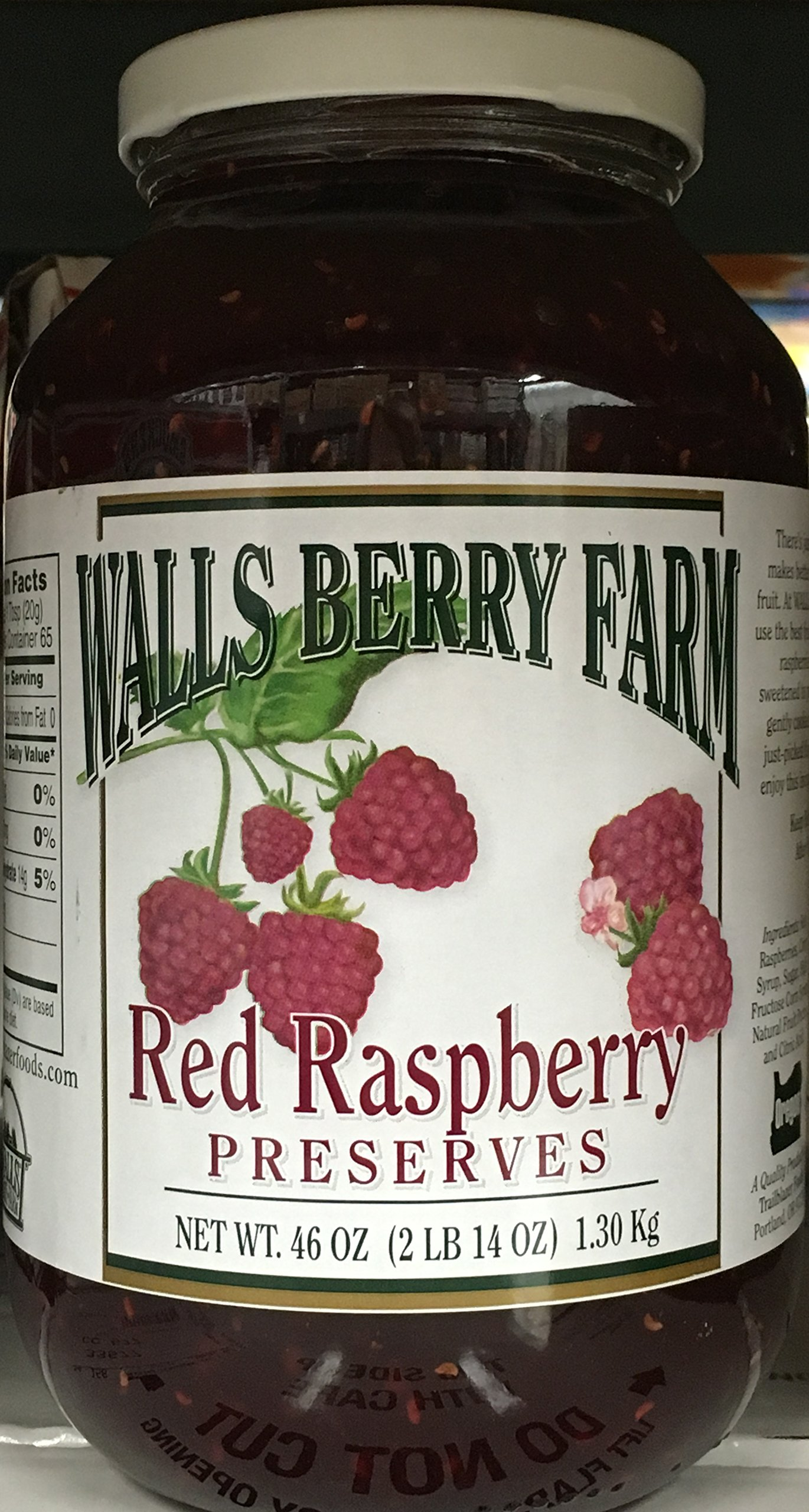 46oz Walls Berry Farm Red Raspberry Preserves, Pack of 1 by Walls Berry Farm