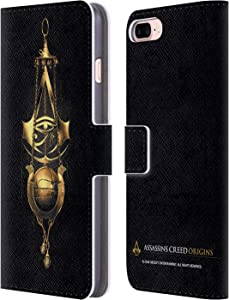 Head Case Designs Officially Licensed Assassin's Creed Piece of Eden Origins Crests Leather Book Wallet Case Cover Compatible with Apple iPhone 7 Plus/iPhone 8 Plus