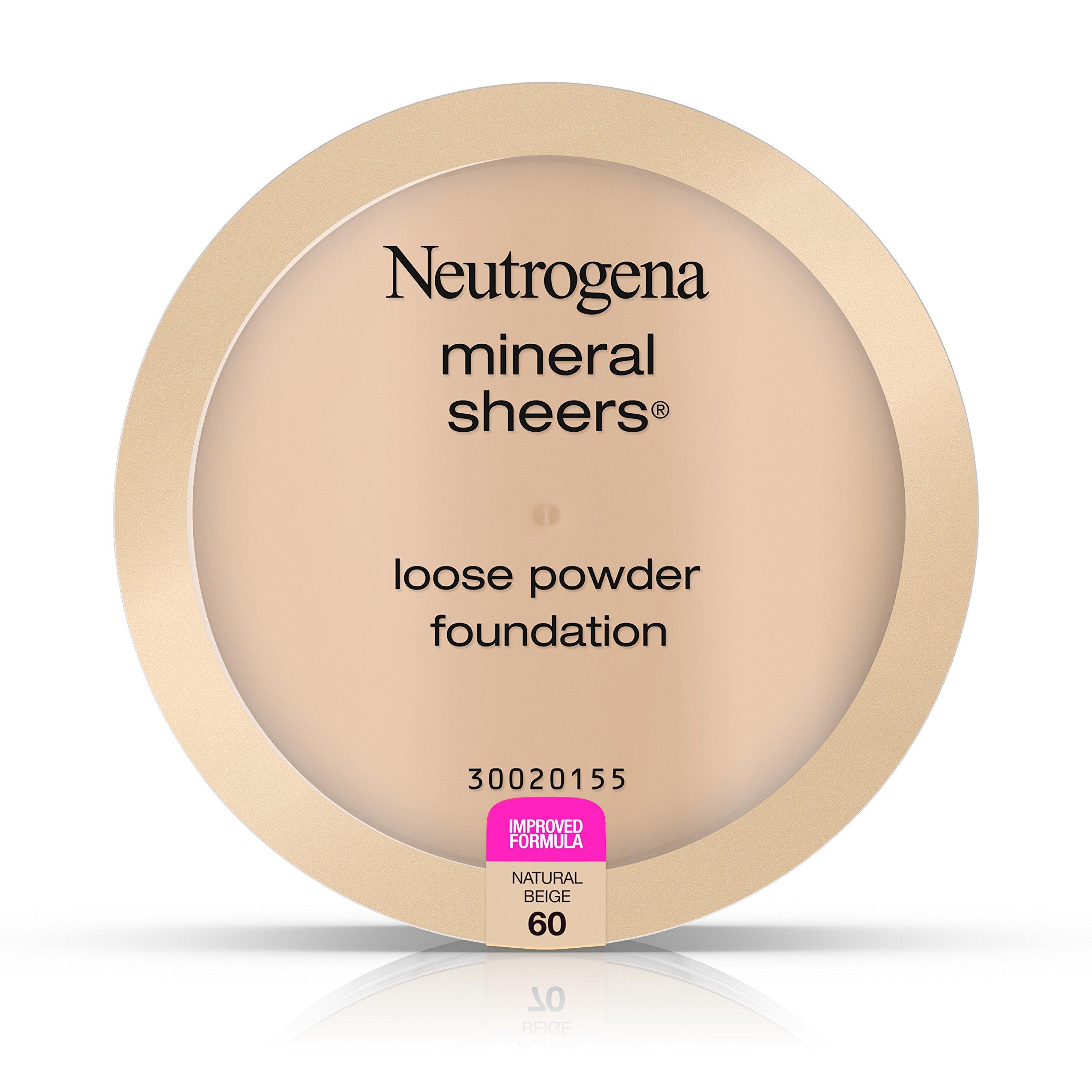Neutrogena Mineral Sheers Loose Powder Foundation, Natural Beige 60, .19 Oz.