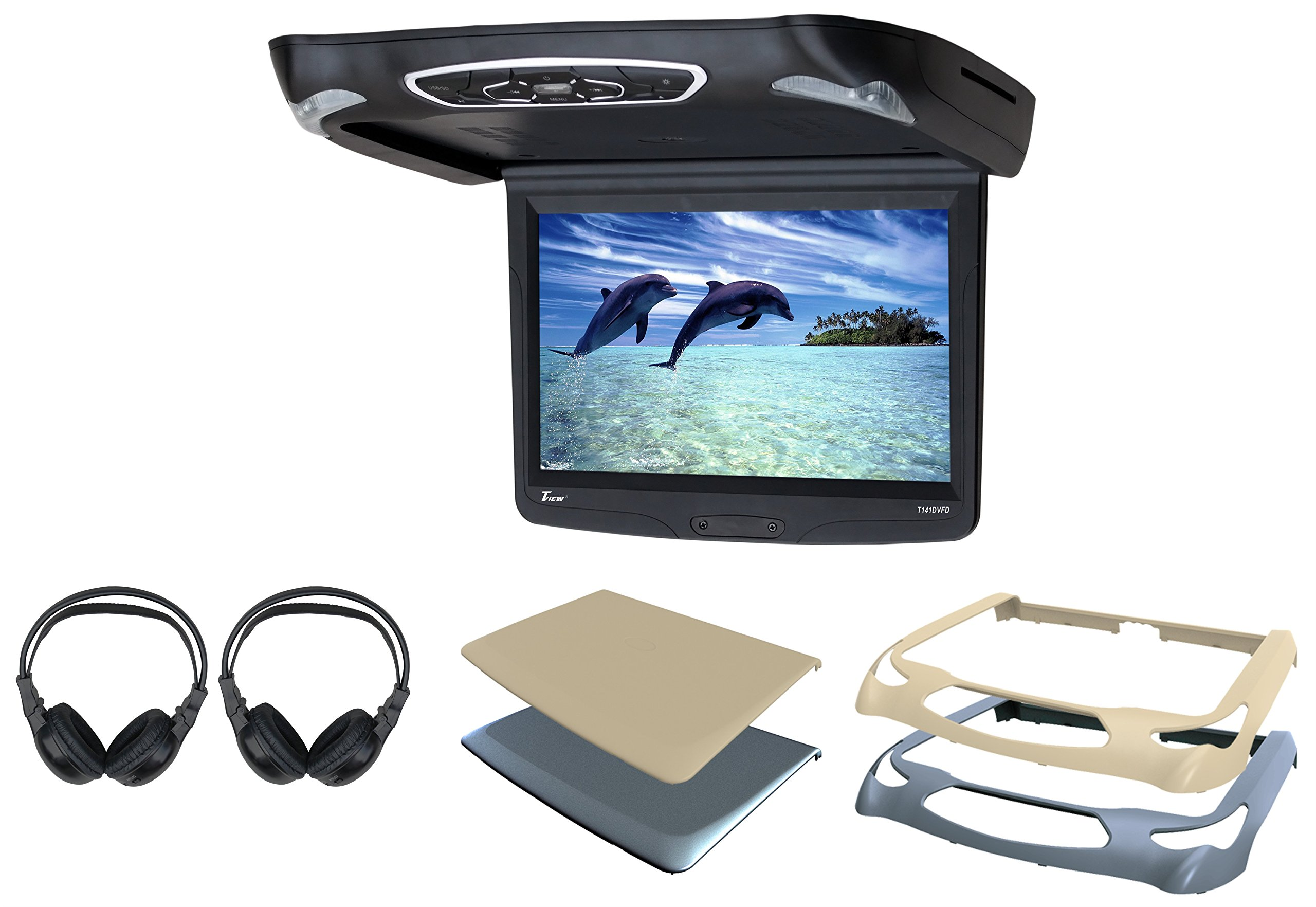 Tview T141DVFD Car Flip Down DVD Monitor