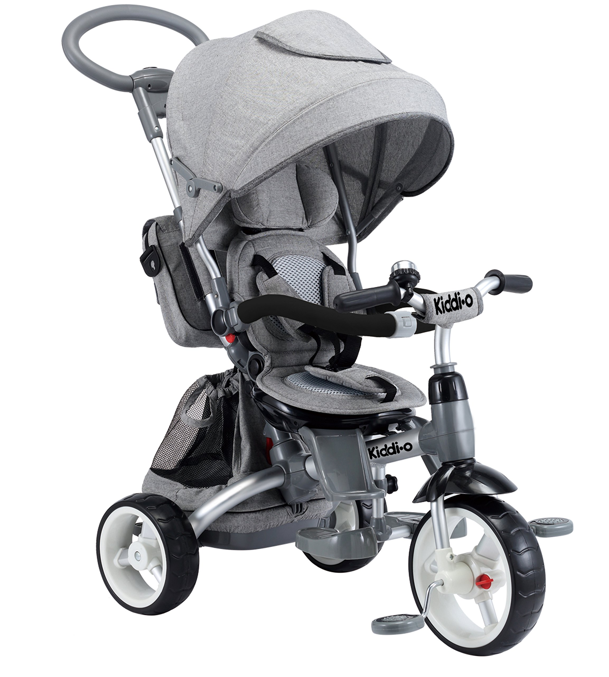 Kiddi-o by Kettler 6-in-1 Ride: Safe Stroller and Multi-Trike, Gray, Youth Ages 2.5+
