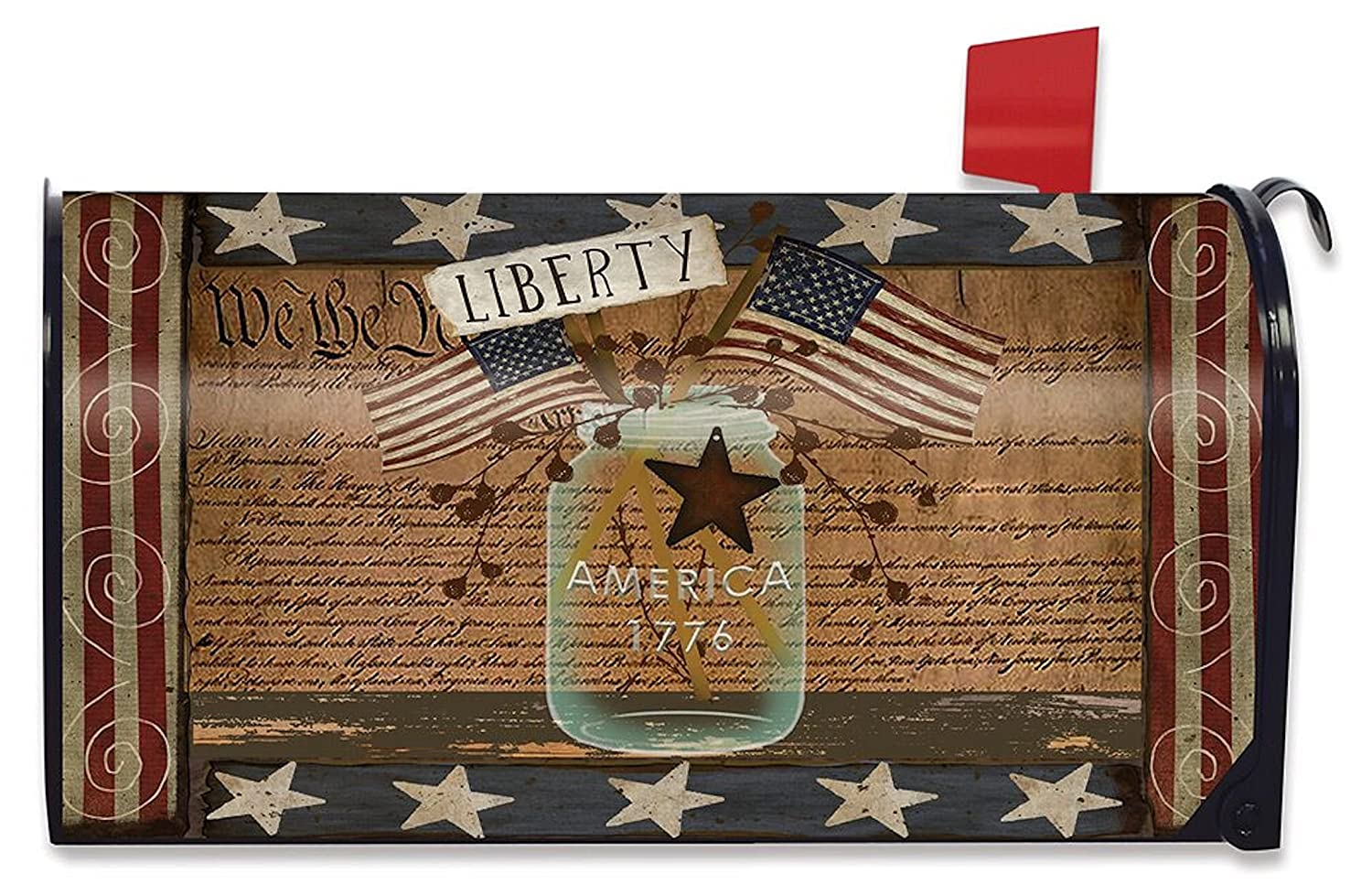 Briarwood Lane Liberty Primitive Mailbox Cover Fourth of July Patriotic Standard