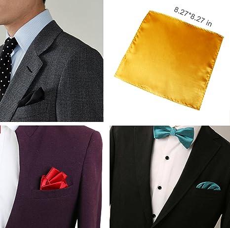 Amazon.com: Pañuelo cuadrado de bolsillo para hombre para ...