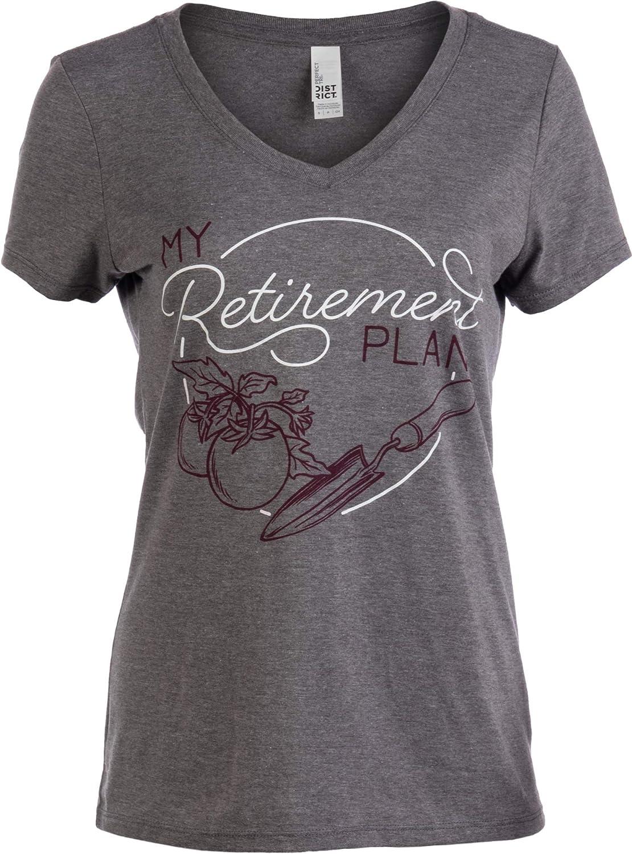 My (Garden) Retirement Plan | Funny Gardener Gardening Vneck T-Shirt for Women