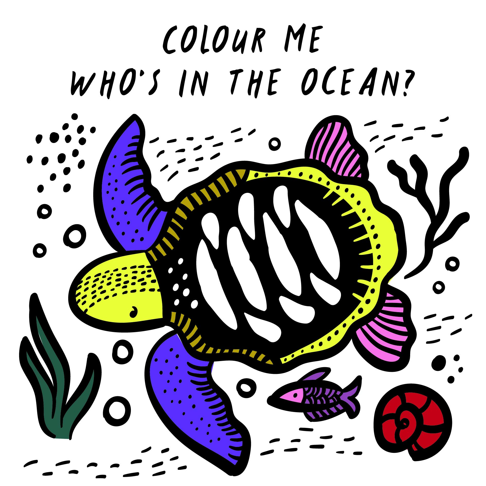Colour Me  Who's In The Ocean   Wee Gallery