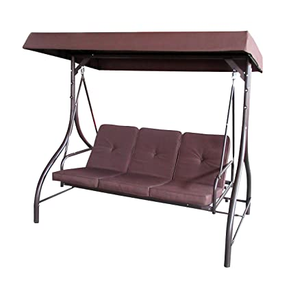 Amazon.com  ALEKO SWC03BR Outdoor Garden Porch Swinging Couch and Daybed Swing Chair Steel Frame Patio Canopy Brown  Garden u0026 Outdoor  sc 1 st  Amazon.com & Amazon.com : ALEKO SWC03BR Outdoor Garden Porch Swinging Couch and ...