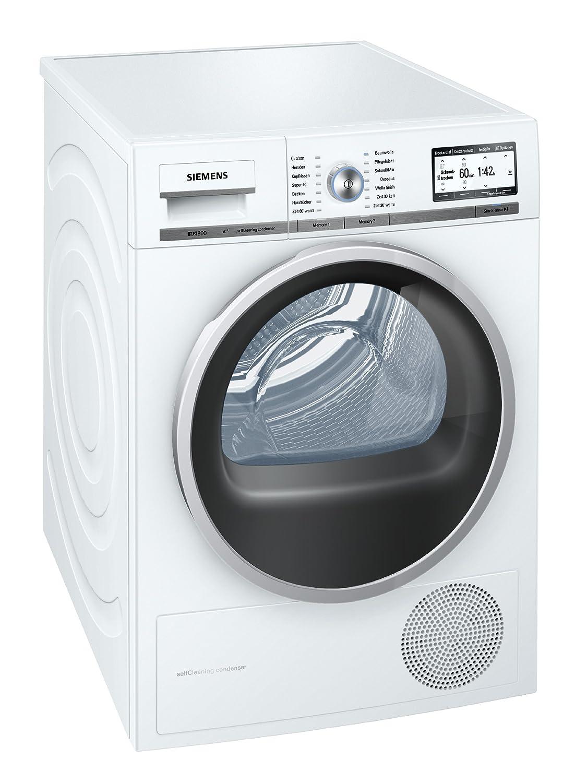 Siemens iQ800 WT47Y701 iSensoric Premium-Wärmepumpentrockner/A++ / 8 kg/Weiß / Selbstreinigender Kondensator/SoftDry-Trommelsystem/TFT-Display [Energieklasse A++]